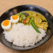 11.Green Chicken Curry Rice