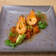 1.Tequila and lime grilled prawns