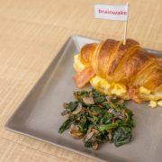 6.Croissant Scrambled Bacon
