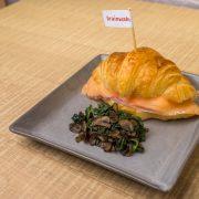 7.Croissant Scrambled Salmon