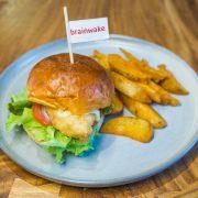 Fish Burger with Potatoes