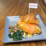 Croissant Scrambled Salmon